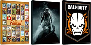 Video Game Poster Set ~ Bundle Includes 3 Mounted Prints (8