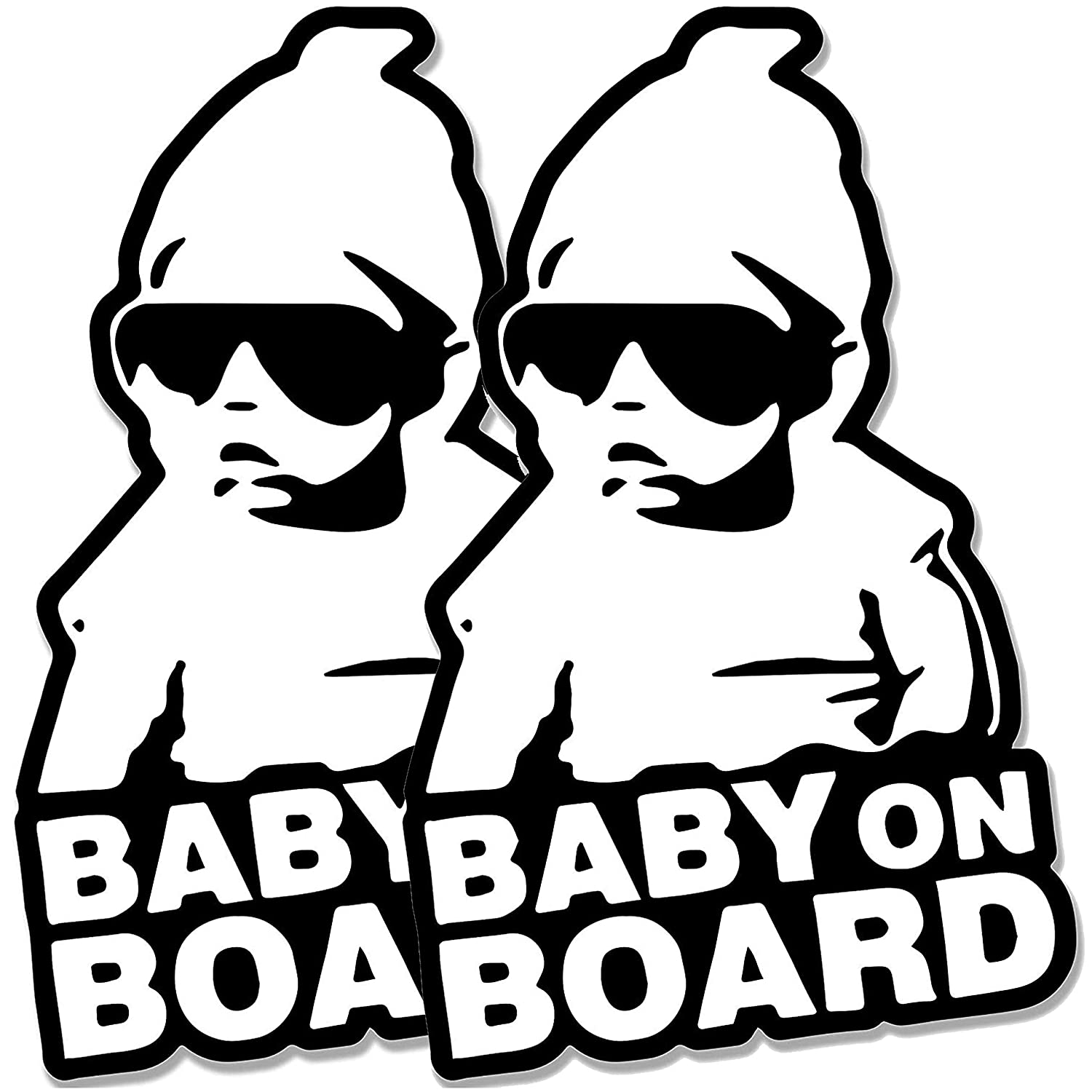 Baby on Board Car Sticker Decal Black and White 2