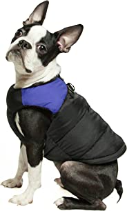 Gooby 74003-BLU-L Padded Cold Weather Vest for Small Dogs with Safe Fur Guard Zipper Closure, Large Chest (20