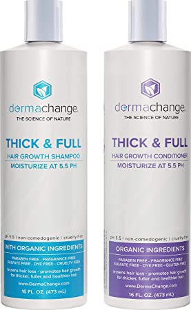 Organic Hair Growth Organic Shampoo and Conditioner Set - Volumizing and Moisturizing - Sulfate Free -