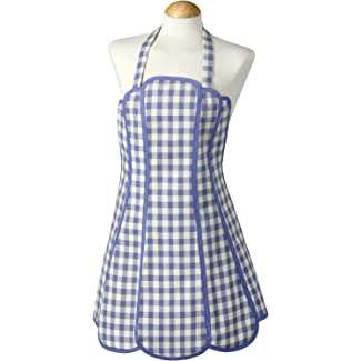 Molly Sapphire Blue Gingham Apron by C'est Ca!