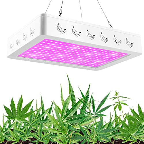 Golspark Indoor LED Grow Light, 600 Watt Full Spectrum Plant Light with Switch, IR UV Growing Lamp Kits for Greenhouse Hydroponic Seedling Veg and Flower