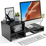 LORYERGO Monitor Stand - Monitor Stand Riser with 2 Tier Shelf, Desktop Organizer, Computer Monitor Stand for Screen, Laptop,