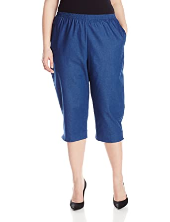Alfred Dunner Women's Plus-Size Denim Capri at Amazon Women's ...
