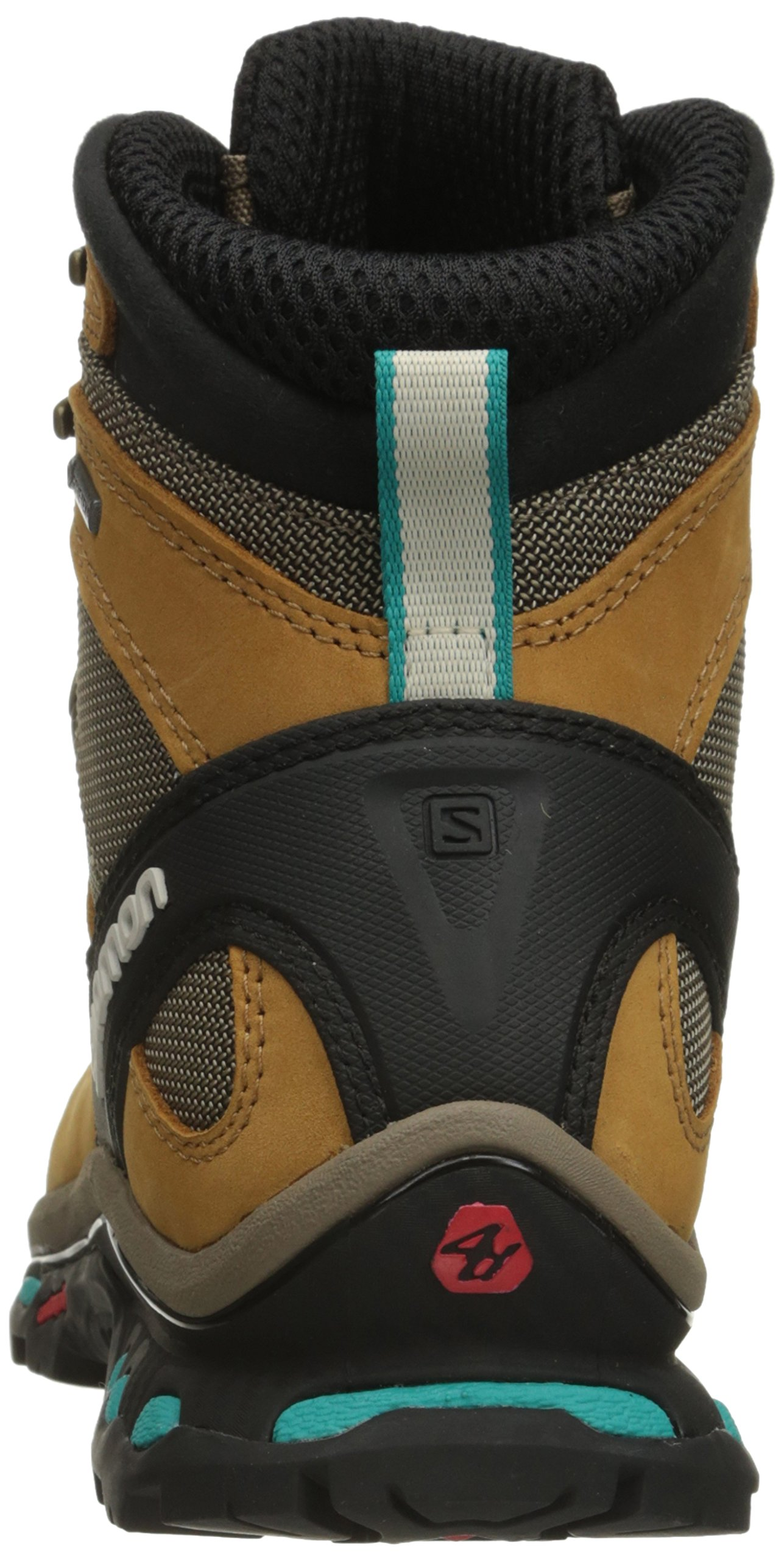 Salomon Women's Quest 4d 2 Gtx W Backpacking Boot, Shrew/Camel Gold Leather/Teal Blue Fabric, 8.5 M US by Salomon (Image #2)