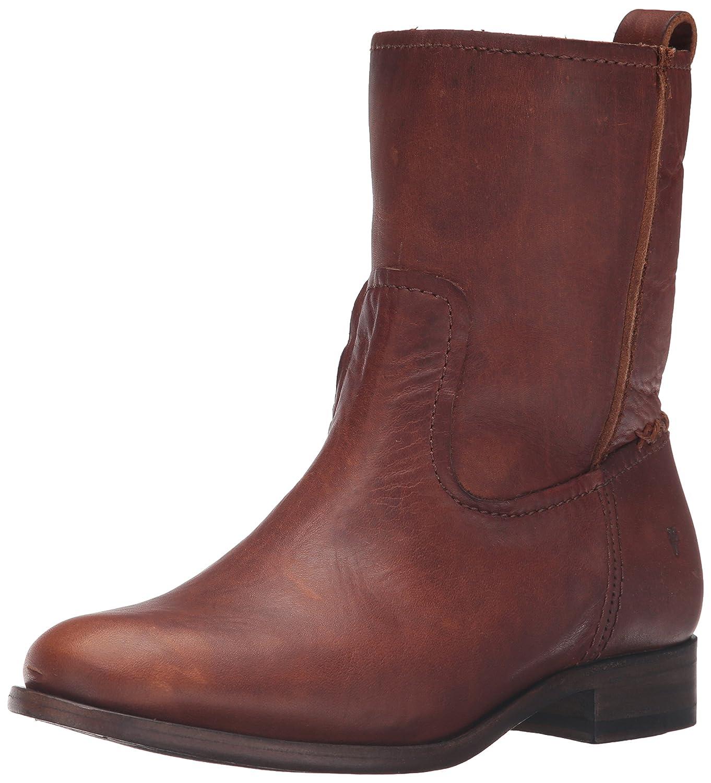 FRYE Women's Cara Short Leather Boot B01AA7WN5W 5.5 B(M) US|Cognac
