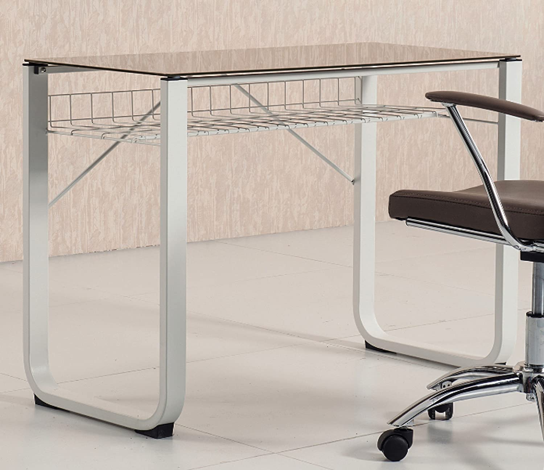 Mesa de estudio escritorio juvenil con cristal templado visón de ...