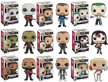 Amazoncom Funko Pop Moviesheroes Suicide Squad Complete Set Of 9