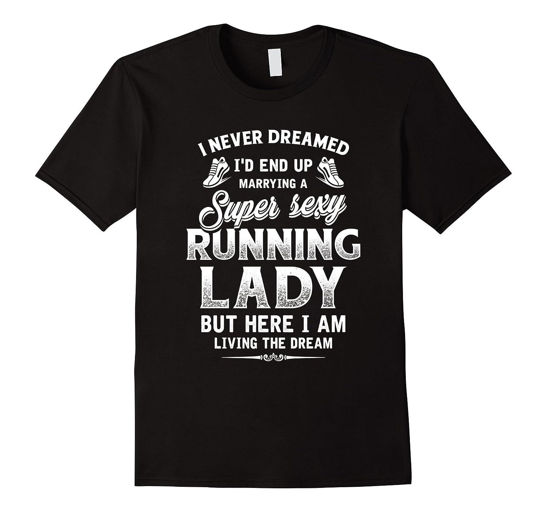 Mens Super Sexy Running Lady T-shirt-BN