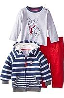 Little Me Baby Boys' Dog 3 Piece Jacket Set