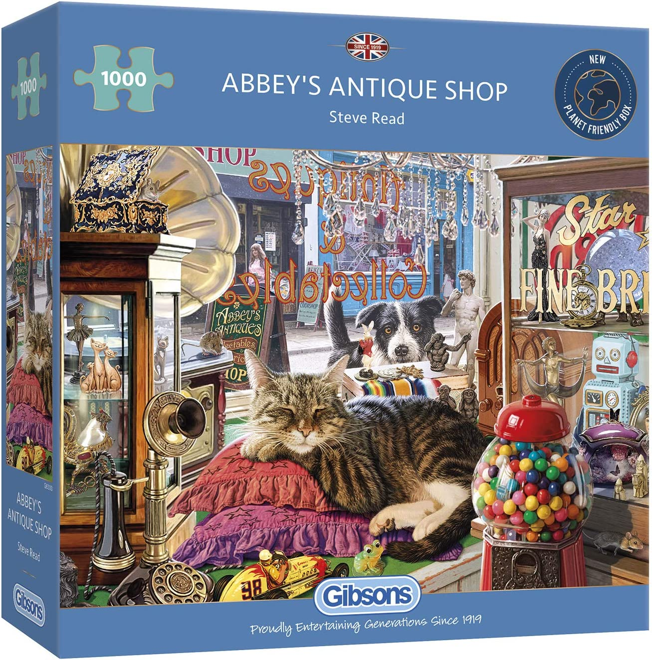 Gibsons 1000 Piece Jigsaw Puzzle Abbeys Antique Shop