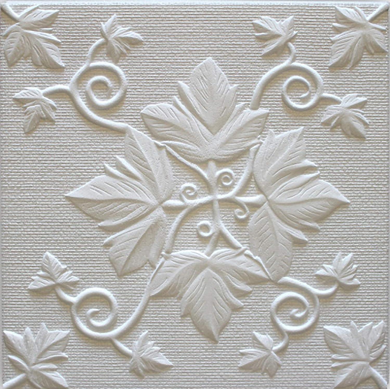Polystyrene Ceiling Tiles Grono (Pack 72 pcs) 18 sqm White Marbet