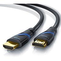 CSL - 3m HDMI Kabel 2.0a 2.0b - Ultra HD 4k 60Hz - neuester Standard - High Speed HDMI 2.0 - Ultra HD Full HD 1080p - 3D ARC CEC HDCP HDR - 3 fach geschirmt - bis zu 18 Gbit s - schwarz