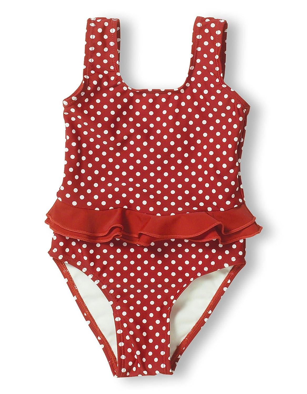 Playshoes Baby - Mädchen Schwimmbekleidung 461039 Badeanzug Punkte UV-Schutz nach Standard 801 und Oeko-Tex Standard 100 Gr. 74/80 Rot (8 rot) Playshoes GmbH