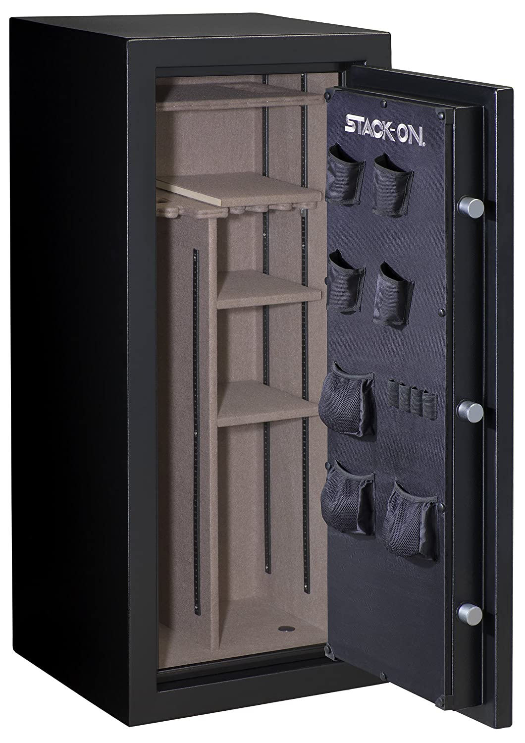 Amazon.com: Stack-On A-24-MB-E-S Armorguard 24-Gun Safe with ...
