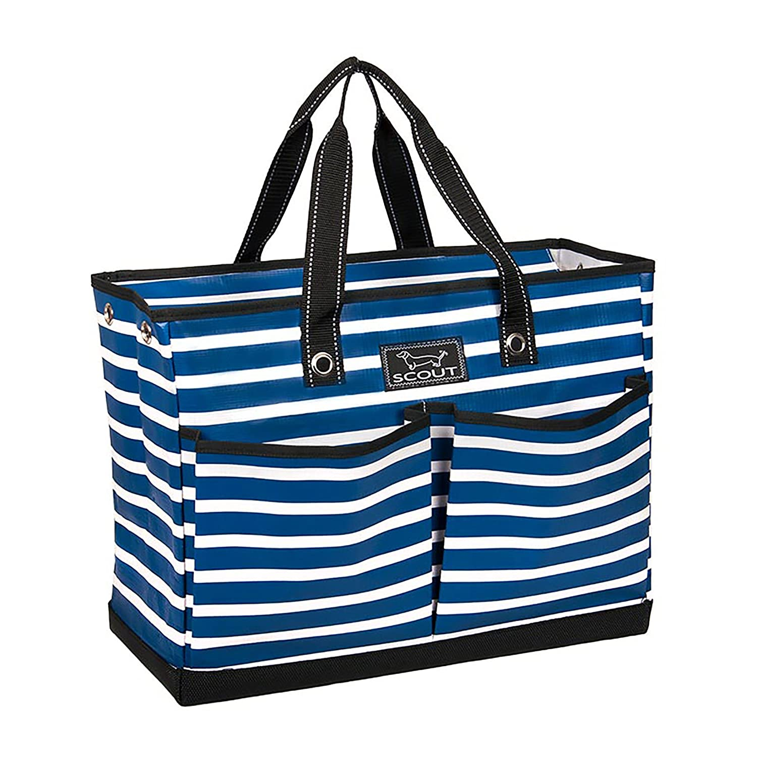SCOUT BJ Bag, Large Multi Pocket Utility Tote for Beach and Pool, Reinforced Bottom, Water Resistant, Zips Closed Zips Closed (Chalk Back) 15864