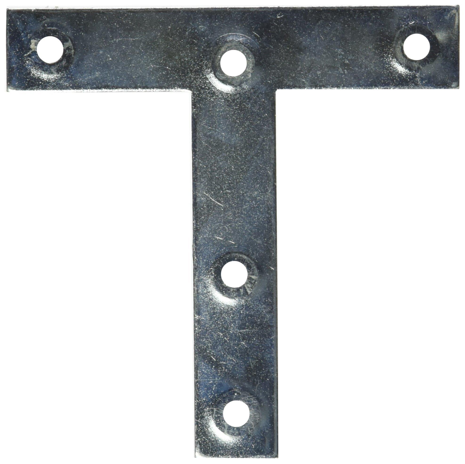 Mintcraft 22530ZCL3L 4-Inch X 4-Inch Zinc Plated T-Plate