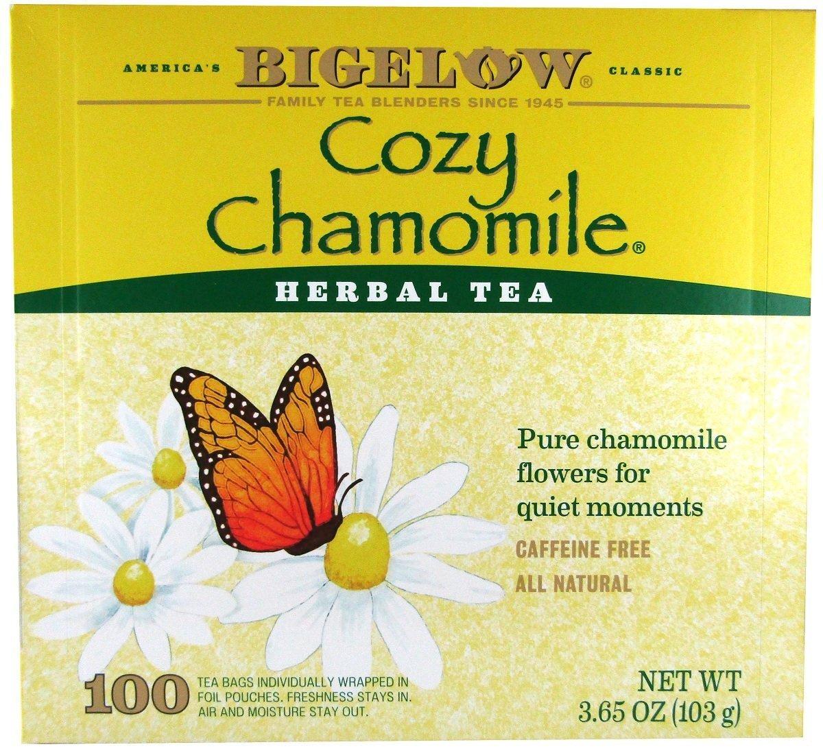 Bigelow Cozy Chamomile Herbal Tea, 100 count box tea bags