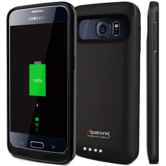 newest collection 4c744 ebfda Alpatronix Galaxy S6 Battery Case, BX410 3500mAh Thin External Protective  Backup Battery Pack Rechargeable Portable Charger Case for Samsung Galaxy  S6 ...