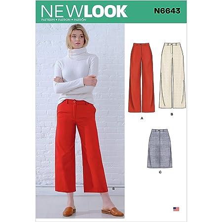 New Look N6643 - Patrones de costura para pantalones y falda de ...