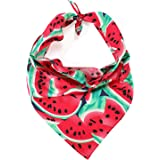 LUCKITTY Dog Bandanas Cotton Triangle Scarf 3D Pattern Design,for Medium Large Dogs,Puppies,Cats,Pets