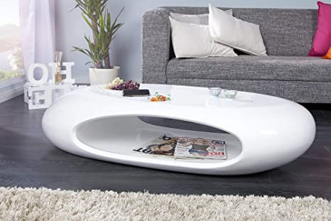 DuNord Design Selenio ITA sofá/Mesa Blanco Brillante Mesa ...