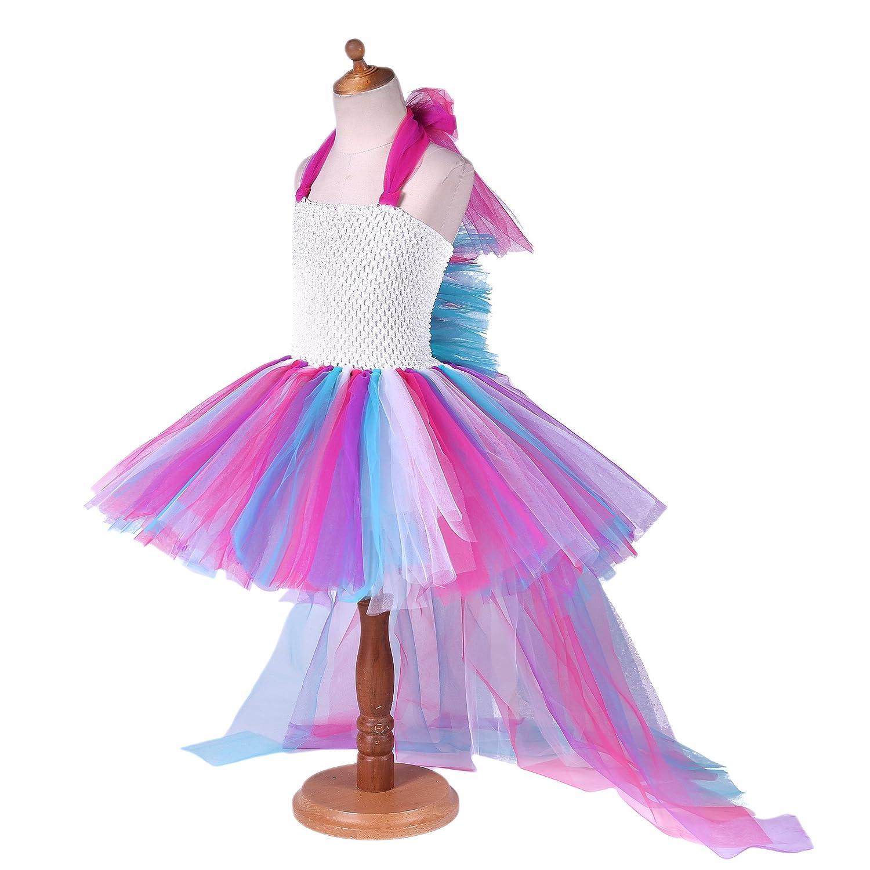 Amazon.com: Pettigirl Girls Princess Unicorn Rainbow Tutu Dress: Clothing