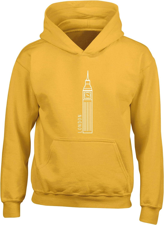 Hippowarehouse /Travel London Kids Childrens Unisex Hoodie Hooded top