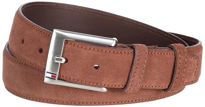 3a684bb6a58 Tommy Hilfiger Men's Boston Belt 100 (L) Chocolate Brown: Amazon.co ...