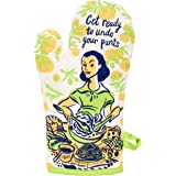 Blue Q Oven Mitt, Get Ready to Undo Your Pants. Super-insulated quilting, natural-fitting shape, 100% cotton