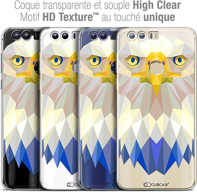 Caseink Coque Housse Etui Pour Huawei Honor 8 52 Crystal Gel Hd Polygon Series Animal Souple Ultra Fin Imprimé En France Aigle