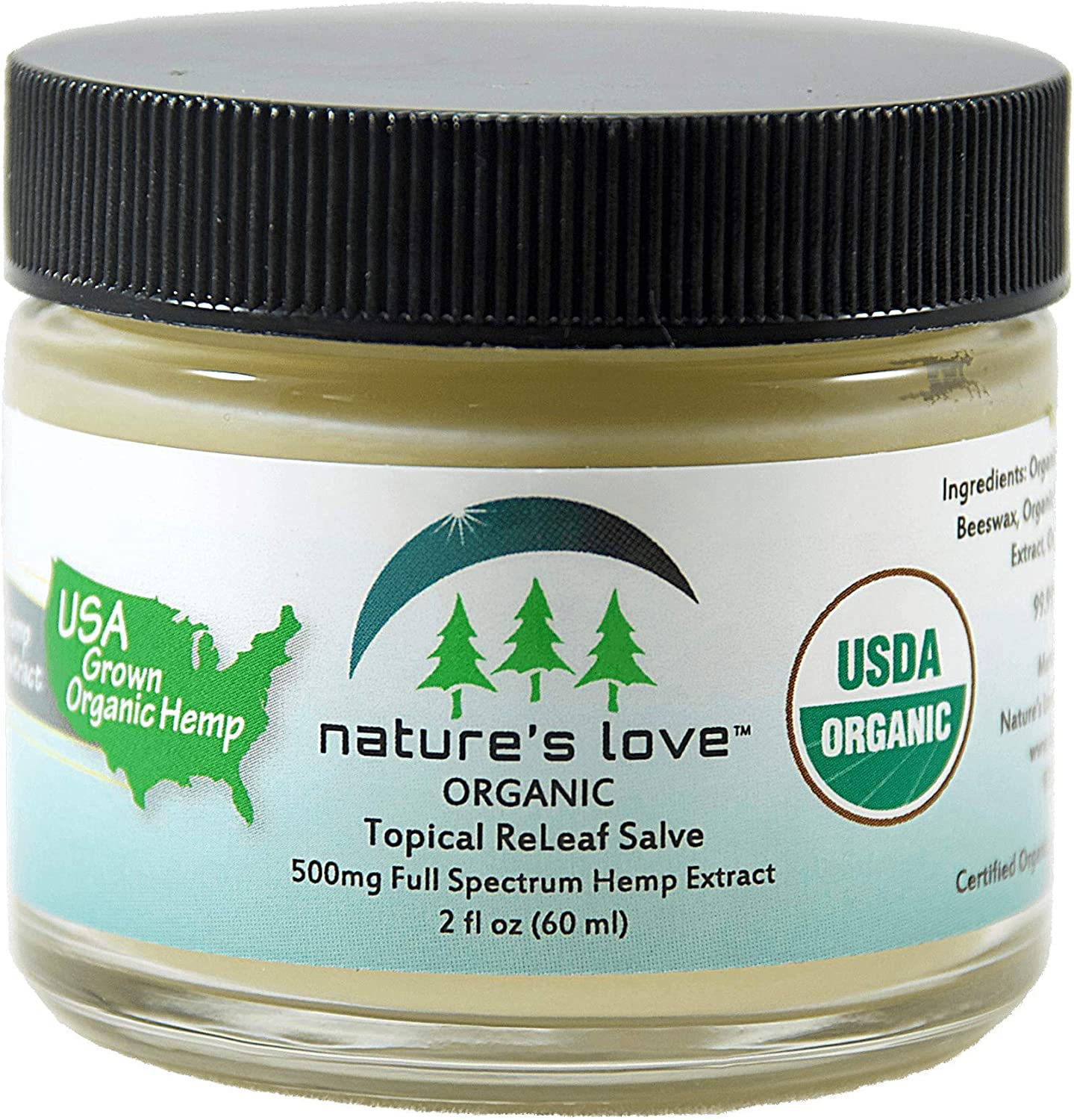 Fast ReLeaf Salve Topical Pain Relief Cream 500MG 60ML—USDA Approved-Made in USA-Highest Quality- Immune Support –Healthy Sleep-Pain Relief, Stress Relief, Antibacterial