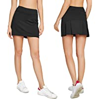 ac3bc81e96 Cityoung Women's Casual Pleated Tennis Golf Skirt with Underneath Shorts  Running Skorts