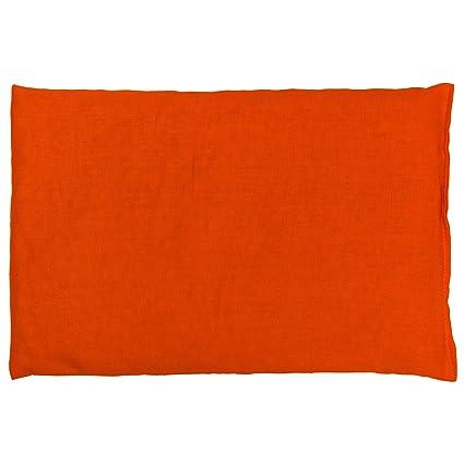 Saco térmico de semillas 30x20cm naranja | Almohada térmica ...