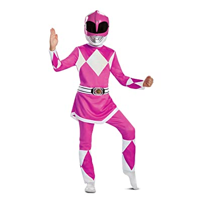 Power Rangers Deluxe Pink Ranger Mighty Morphin Costume for Kids: Toys & Games