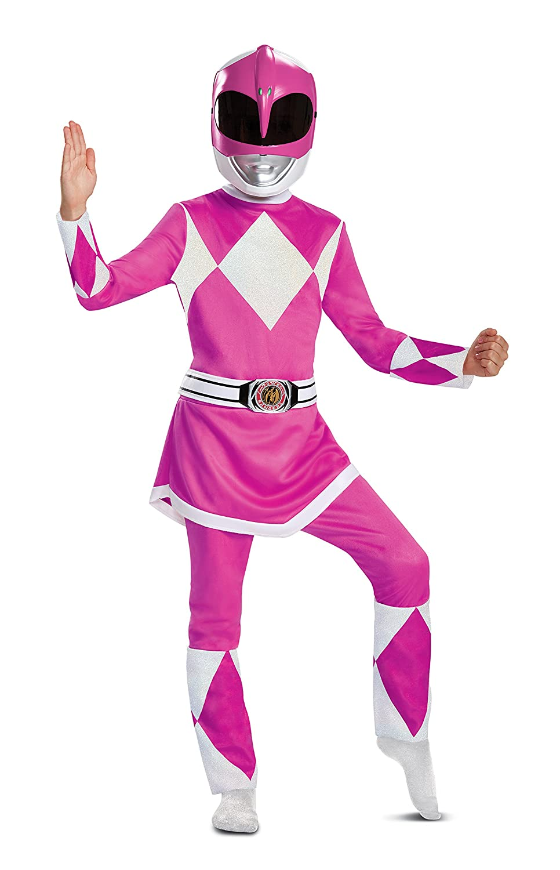Girls Pink Ranger Deluxe Power Rangers Costume Disguise