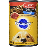 PEDIGREE CHOICE CUTS Adult Canned Wet Dog Food - Beef in Sauce, 630g (12 Pack)