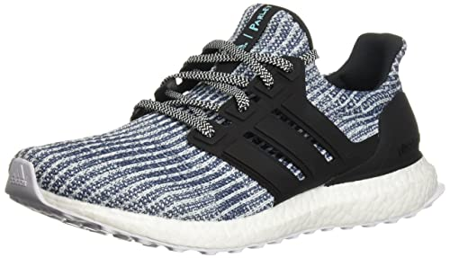 adidas Men s Ultraboost Parley Running Shoe White Carbon Blue Spirit 7.5 ... 03c8166a8265e