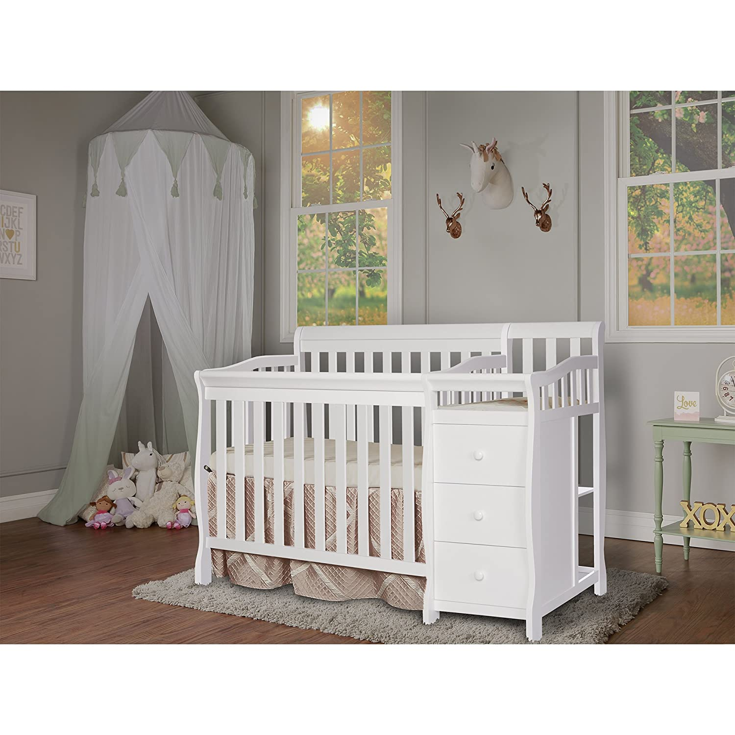 Dream On Me Jayden 4-in-1 Mini Convertible Crib And Changer 629-W