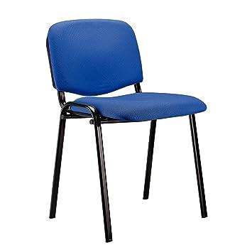 Adec - Silla confidente iso, medidas 54 x 55 x 80 cm, color azul