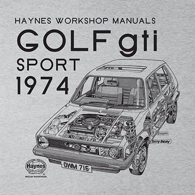 POD66 Haynes Owners Workshop Manual VW Golf GTI Sport Front Black Mens Hooded Sweatshirt at Amazon Mens Clothing store: