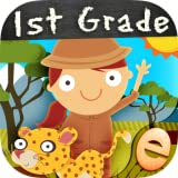 Animal First Grade Math Games for Kids with Skills Free: The Best Kindergarten, 1st and 2nd Grade Numbers, Counting, Addition and Subtraction Activity Games for Boys and Girls