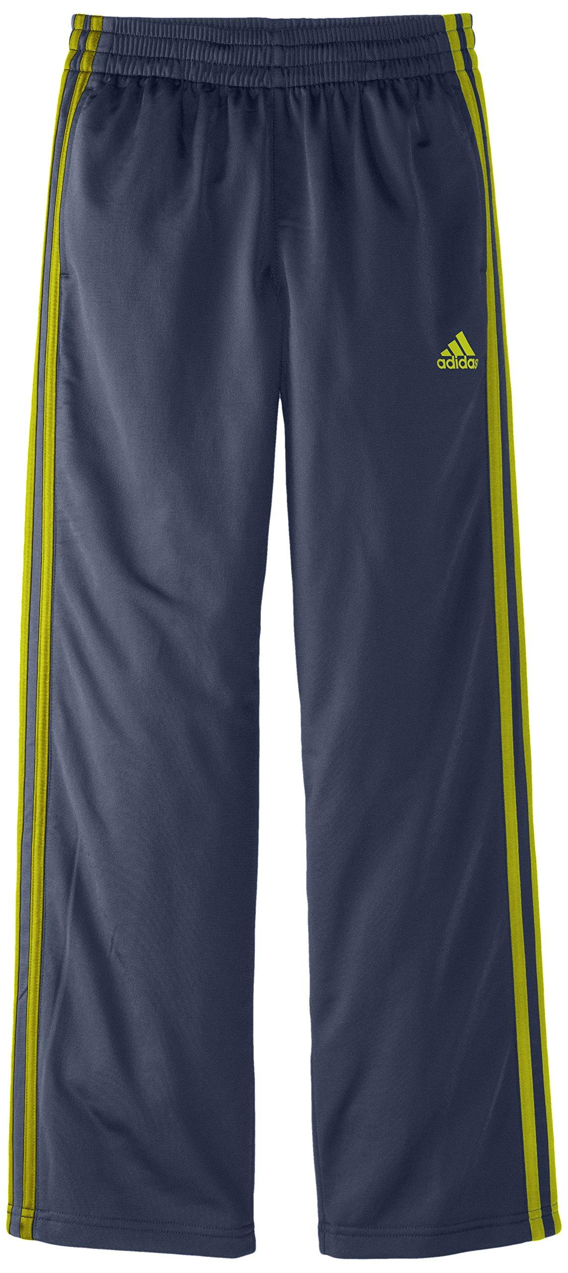 adidas Big Boys' Designator Pant, Grey/Yellow, X-Large