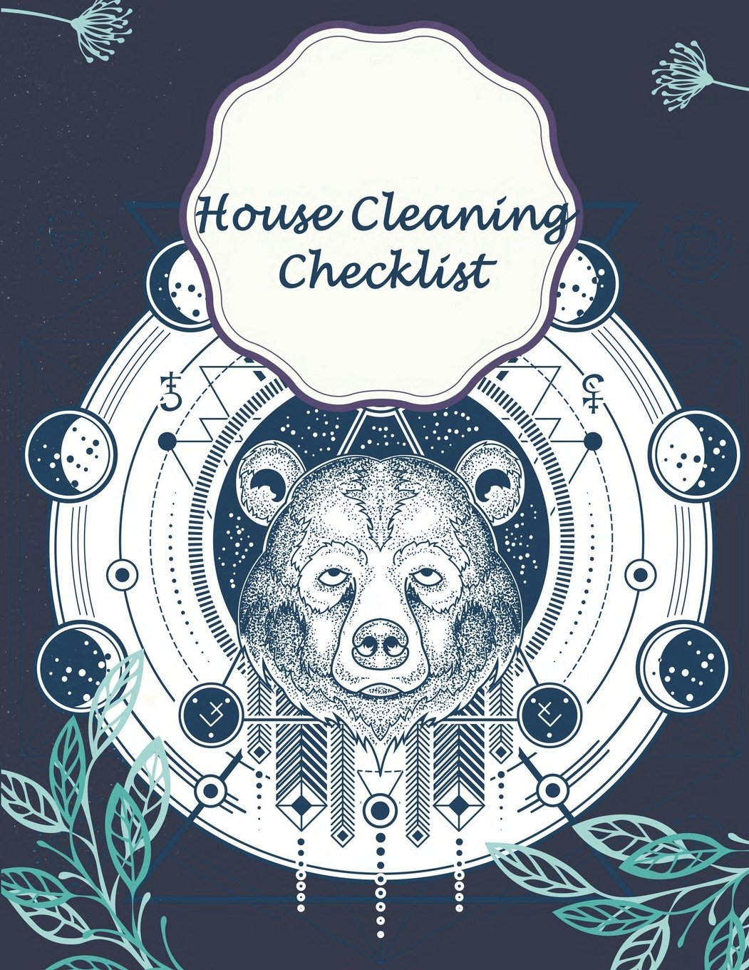 """Download House Cleaning Checklist: Blue Bear Cover, Household Planner,Daily Routine Planner,Cleaning and Organizing Your House 120 Pages 8.5"""" x 11"""" ebook"""