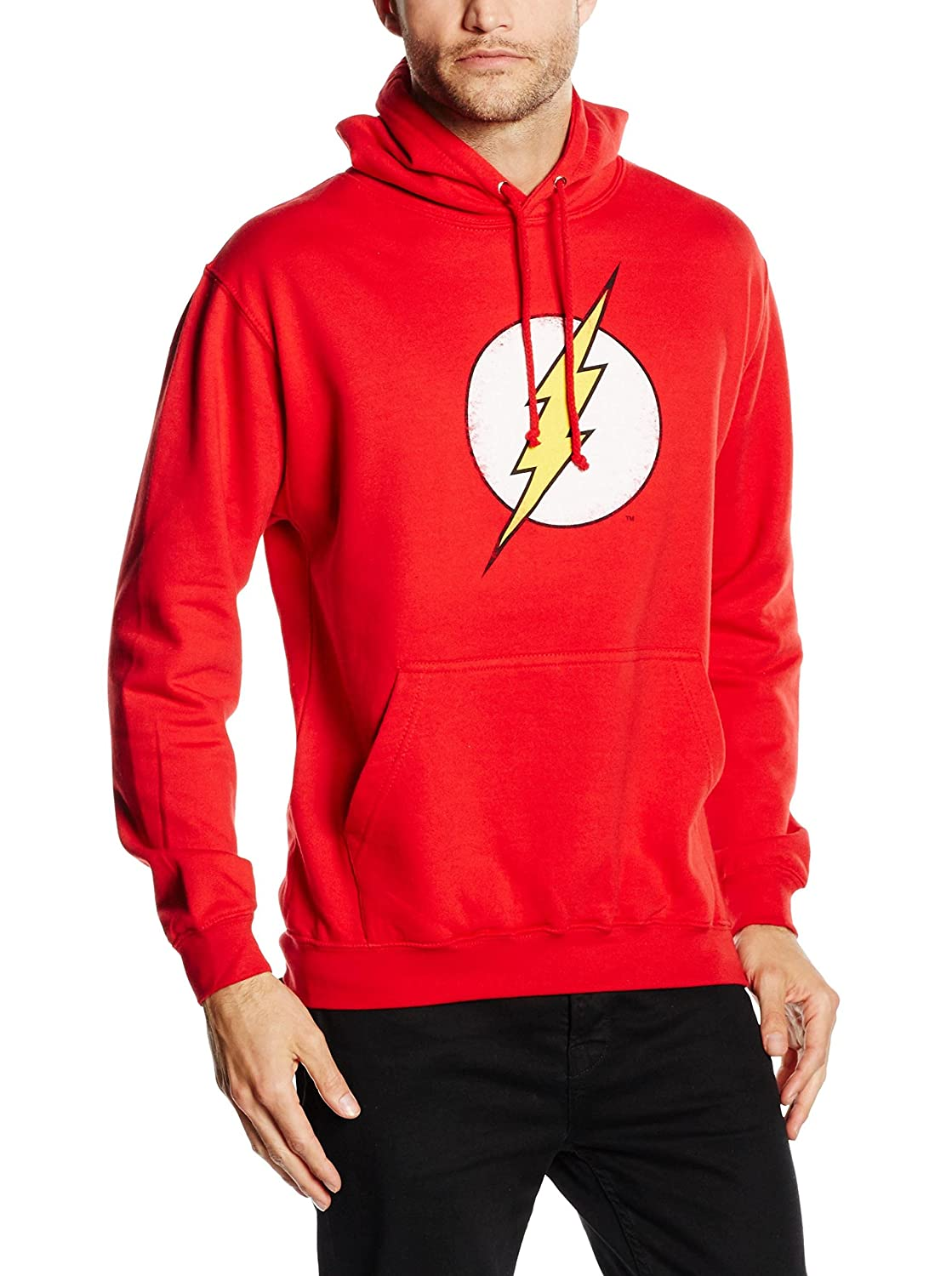 DC Comics Mens Flash Distress Hoodie