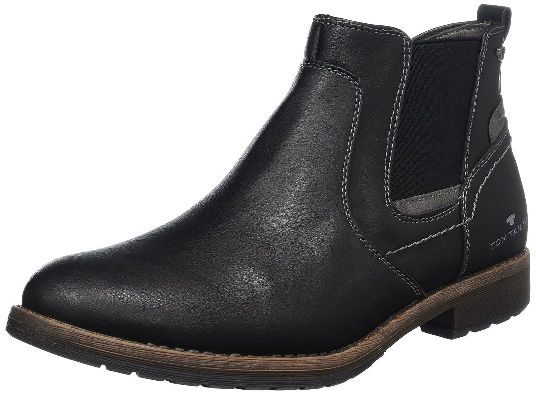 TOM TAILOR Herren 3781602 Chelsea Boots, Schwarz (Black), 41