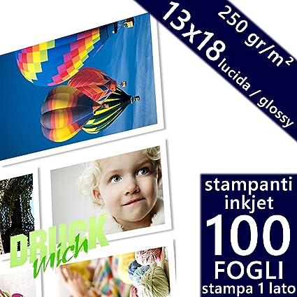 Unidades 100 hojas papel fotográfico 13 x 18 Premium fotos Glossy ...