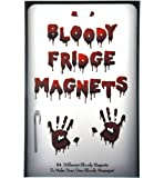 Novelty Humour Bloody Fridge Magnets 84 Letters and Hand Print Freaky Halloween Scary