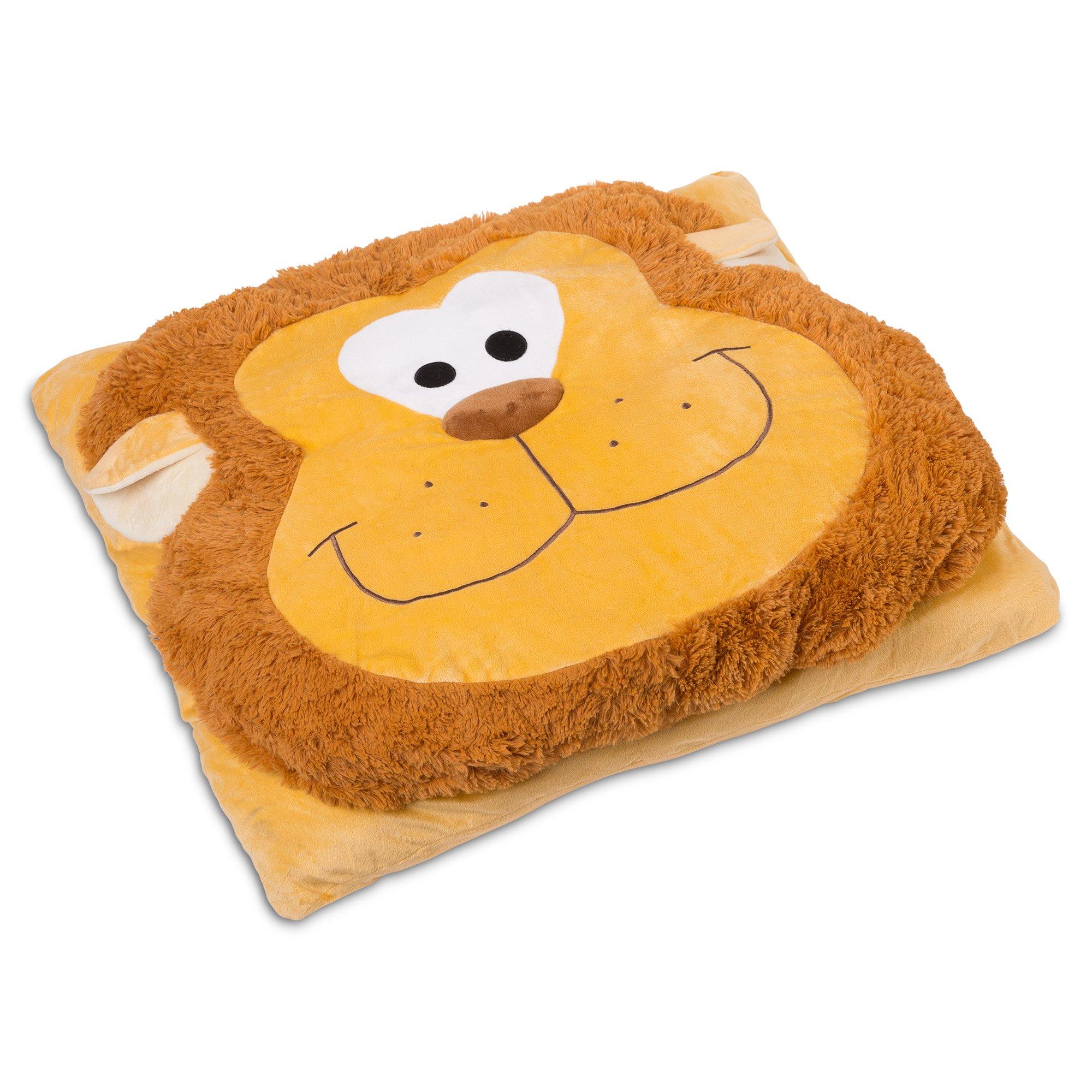 Safdie & Co. Lion Fun Plush Oversized Floor Pillow