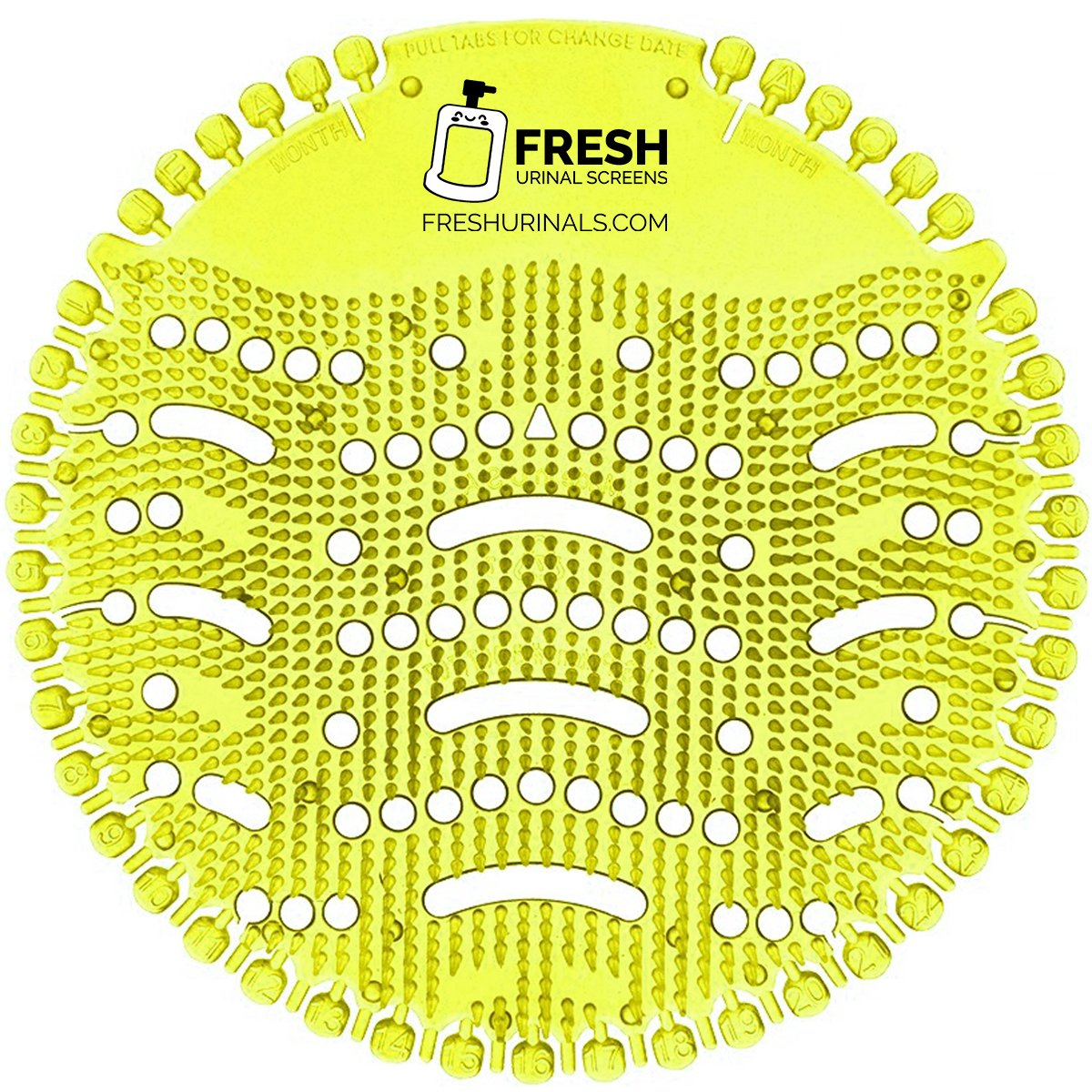 Urinal Screen Deodorizer (10 Pack) - Scent Lasts for Up to 5000 Flushes - Anti-Splash & Odor Neutralizer - Ideal for Bathroom, Restroom, Office, Restaurant, School - Yellow Lemon Fragrance by Fresh Urinal Screens